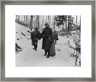 Three Soldiers Of The U.s. 101st Framed Print