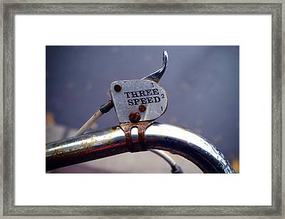 Three Speed Bicycle Framed Print