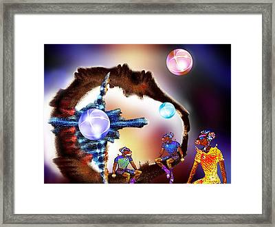 Three Spheres Framed Print by Hartmut Jager