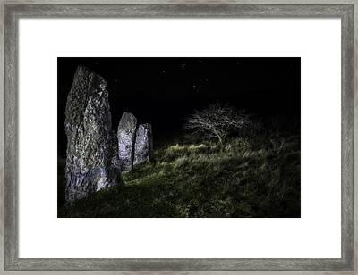 Three Standing Stones Framed Print by Dirk Ercken