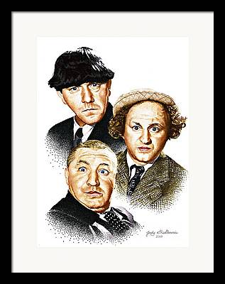 Three People Framed Prints
