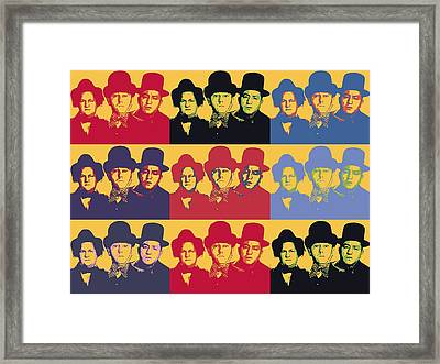 Three Stooges Pop Art Collage Framed Print by Dan Sproul