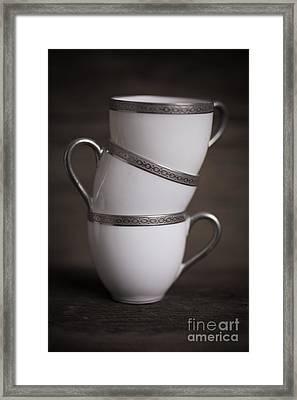 Three Tea Cups Framed Print
