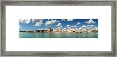 Three Towers At The Port Of La Framed Print by Panoramic Images
