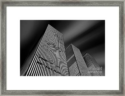 Three Towers Framed Print