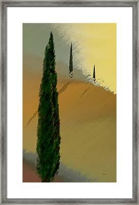 Three Tree Tuscany Framed Print