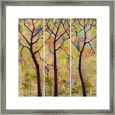 Three Trees Triptych Framed Print