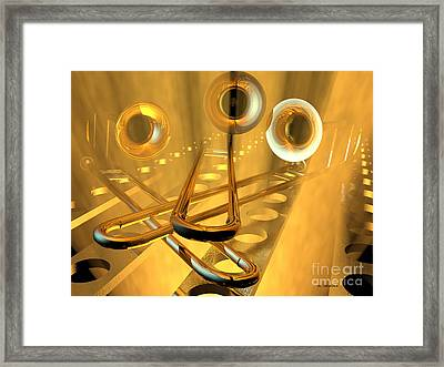 Three Trombones Framed Print