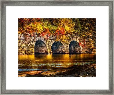 Three Tunnels Framed Print