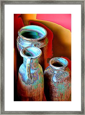 Three Urns Framed Print