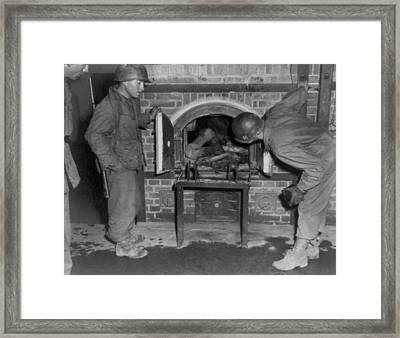 Three U.s. Army Soldiers Looking Framed Print by Everett