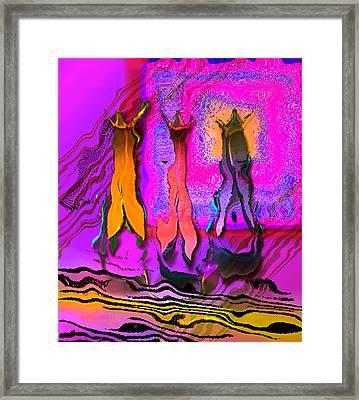 Three Vases Framed Print by Mario Perez