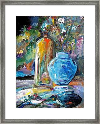 Three Vases Framed Print