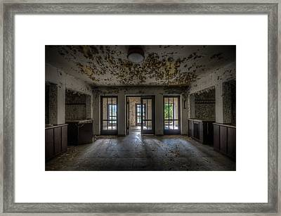 Three Way Entrance  Framed Print