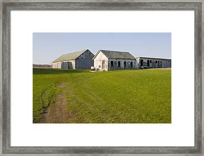 Three Weathered Farm Buildings Framed Print