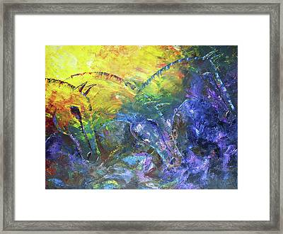 Three Whispers Framed Print