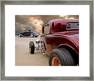 Three Window Deuces Framed Print
