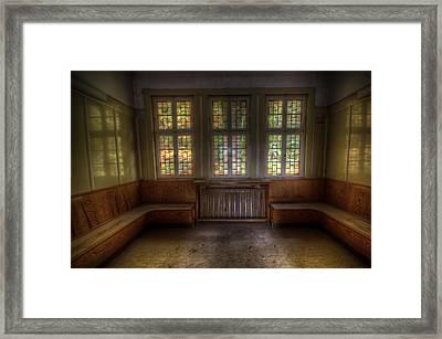 Three Window Waiting  Framed Print
