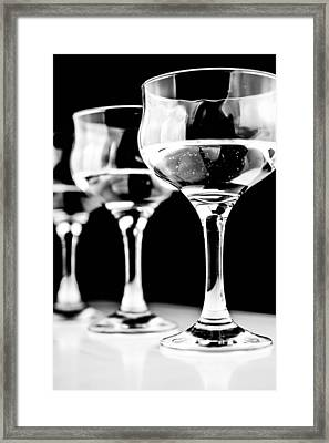 Three Wine Glass In  Framed Print by Tommytechno Sweden