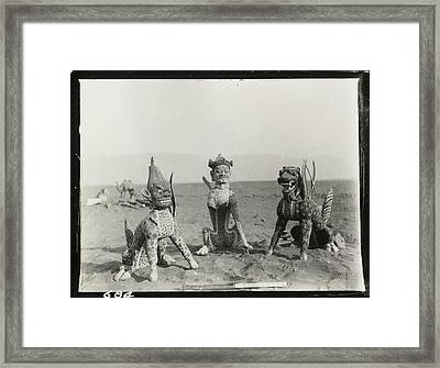 Three Winged Monsters Framed Print by British Library
