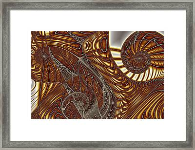 Three Wire Gnarls Framed Print by Mark Eggleston