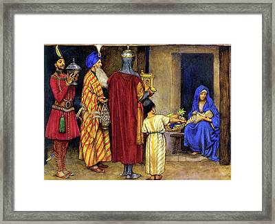 Three Wise Men Bearing Gifts Framed Print by Eleanor Fortescue Brickdale