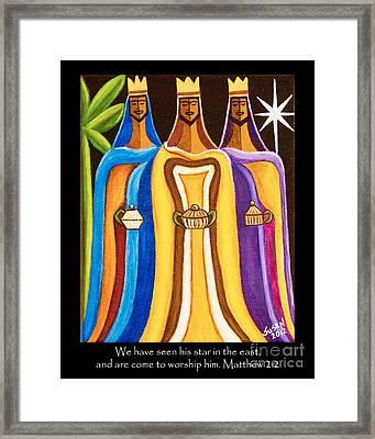 Three Wise Men Follow The Star Framed Print