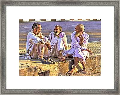 Three Wise Men Framed Print by Prakash Ghai