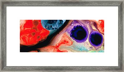 Three Wishes Abstract Art By Sharon Cummings Framed Print by William Patrick