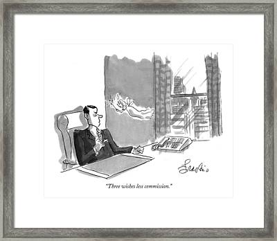 Three Wishes Less Commission Framed Print