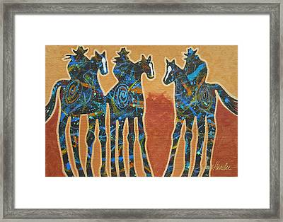 Three With Rope Framed Print