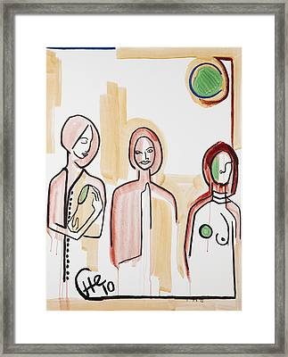 Three Women 40x30 Framed Print