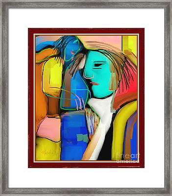 Three Women Conversing Framed Print by Nedunseralathan R