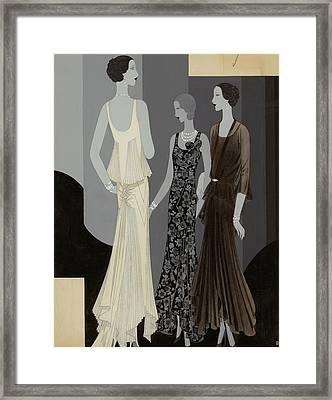 Three Women Wearing Chanel Framed Print by William Bolin
