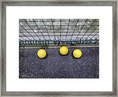 Three Yellow Balls Framed Print by Patricia Januszkiewicz