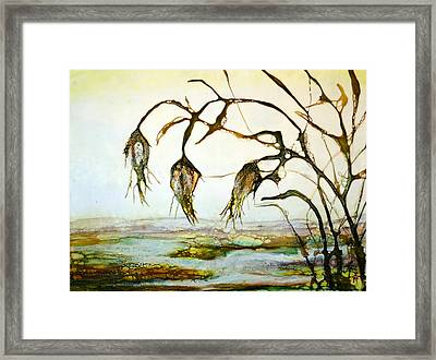 Three Yellow Flowers Framed Print