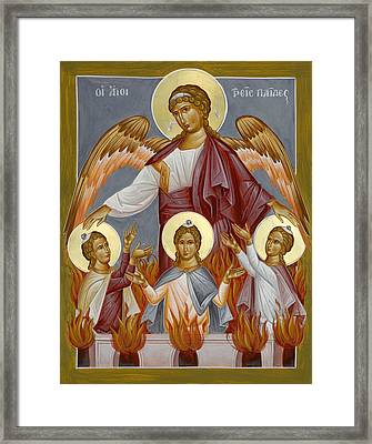 Three Youths In The Furnace Framed Print