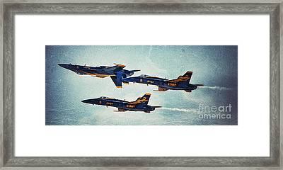Threes A Crowd Framed Print by AK Photography