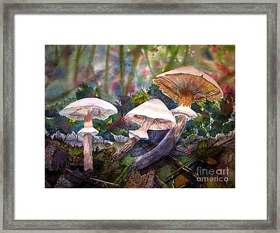 Framed Print featuring the painting Three's Company by Martha Ayotte
