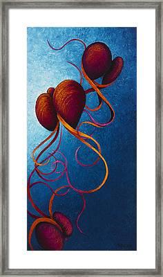 Threesome Framed Print by Karen Balon