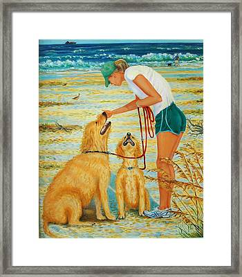 Threesome On Sullivan's Island Framed Print