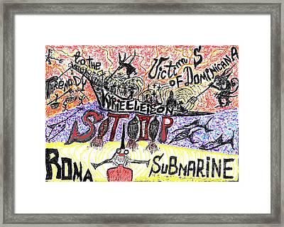 Threnody To The Victims Of Dominicana . Contro La Pedofilia A Chiesa Sancta. Der Zorn Gottes. Framed Print by  Andrzej Goszcz