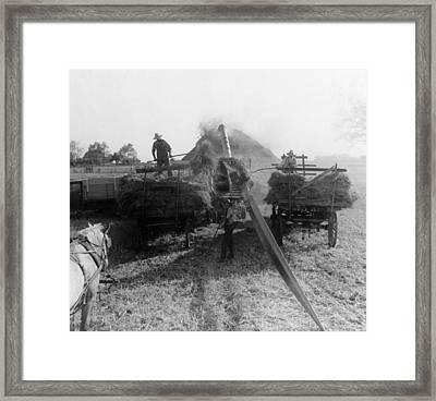 Threshing, 1936 Framed Print