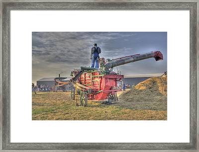 Threshing At Rollag Framed Print