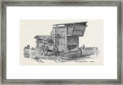 Threshing Machine, Clayton, Shuttleworth Framed Print by English School