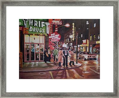 Thrift Drugs Framed Print
