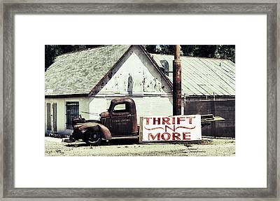 Thrift N More Framed Print by Patricia Januszkiewicz