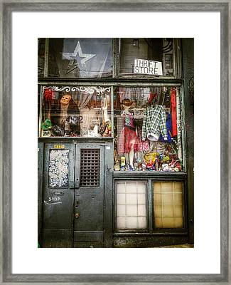 Thrift Store Shop Framed Print by Empty Wall