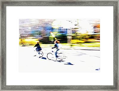 Thrill Of Riding - Living Life To The Fullest Framed Print by Nishanth Gopinathan