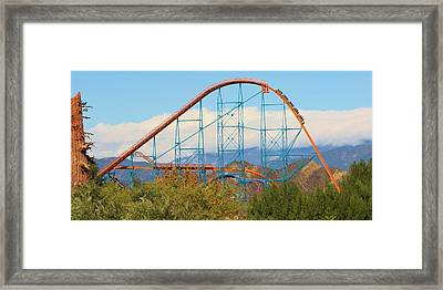 Thrill Of The Ride Framed Print by Michelle Cassella